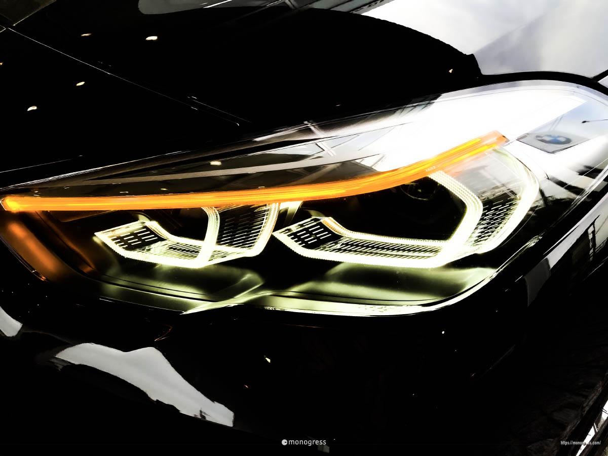 BMW 218i M-Sport ヘッドライト