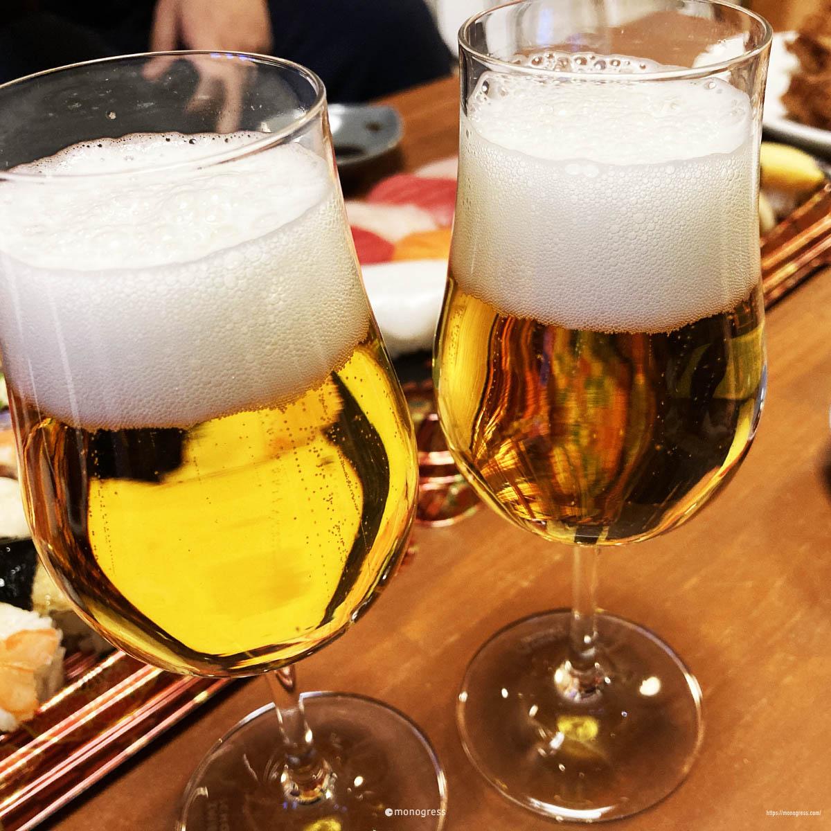 ツヴィーゼルグラスとビール