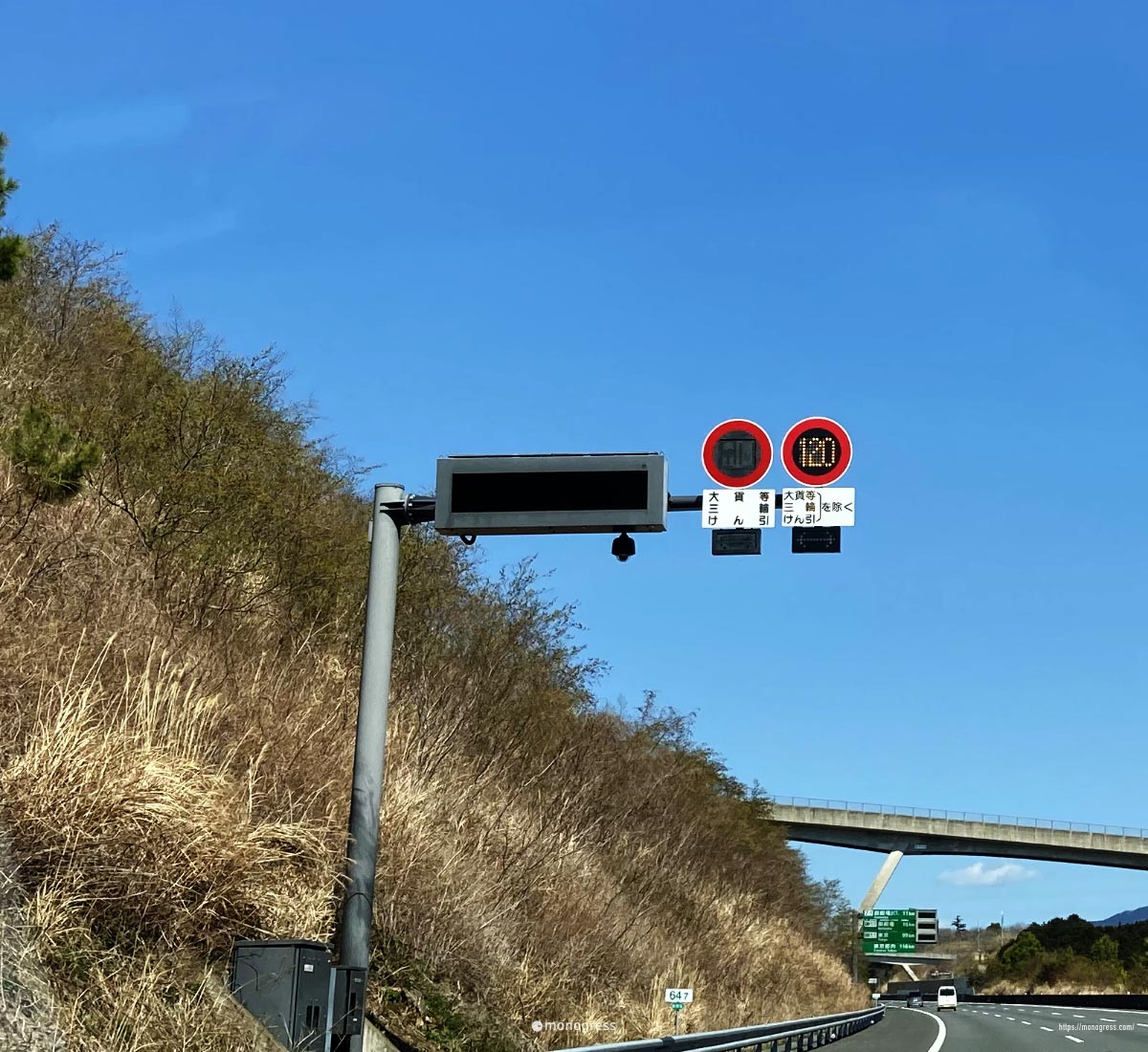 最高速度 120km/h の表示