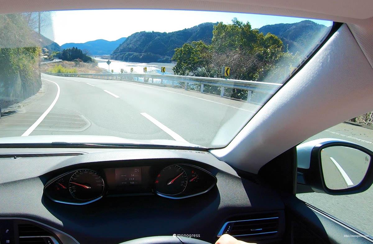 山梨県南部町をドライブ中