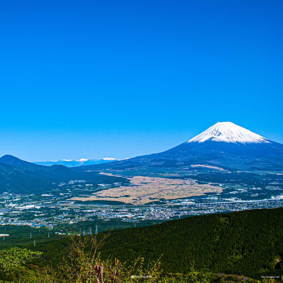 富士山と裾野