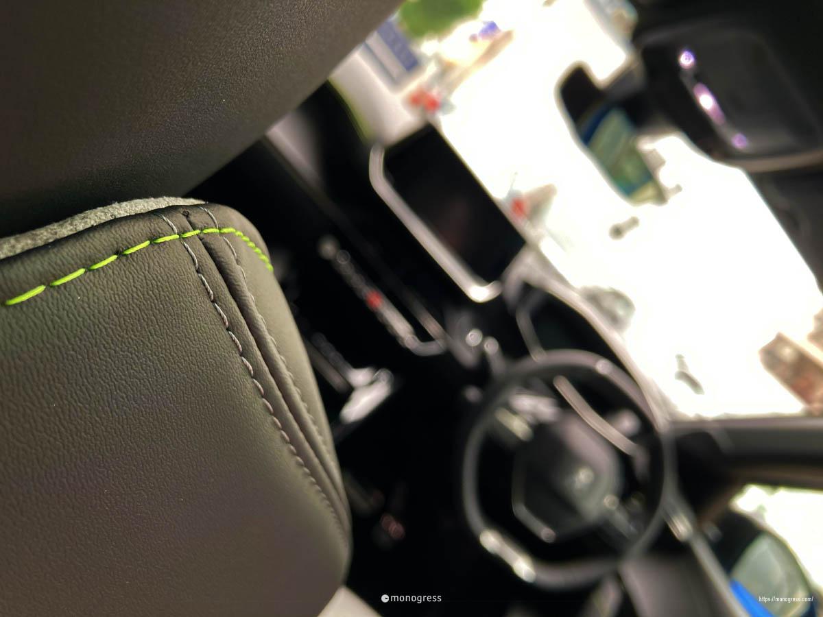Peugeot 208 ステッチ