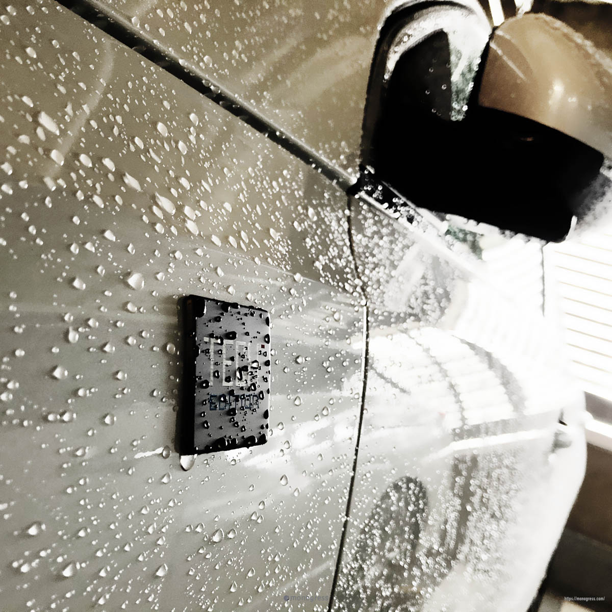 Peugeot308 雨粒