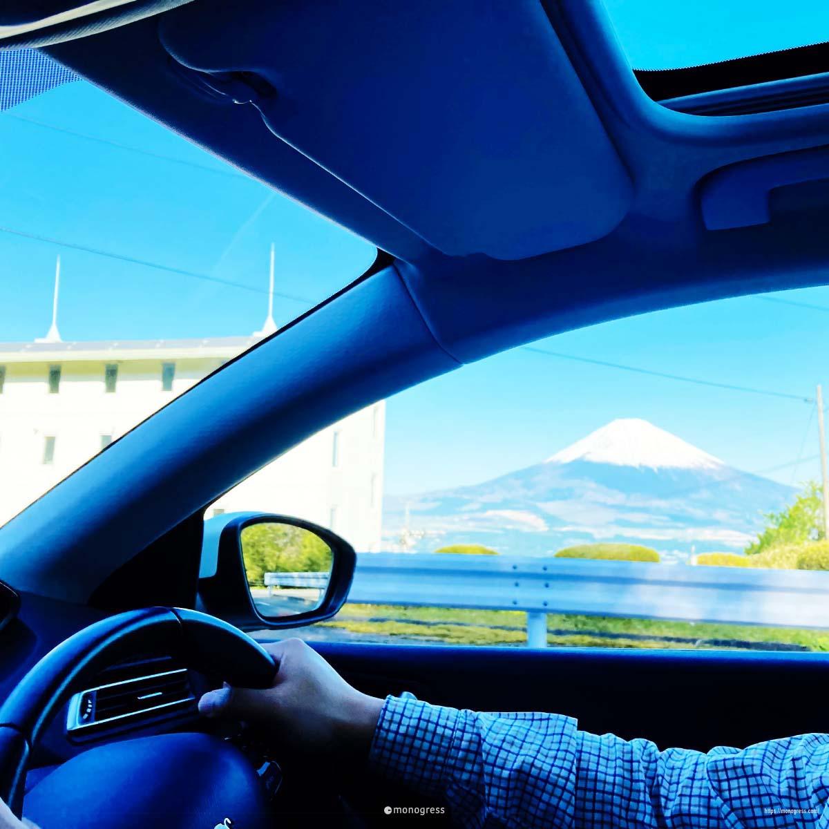 富士山を見ながらのドライブ
