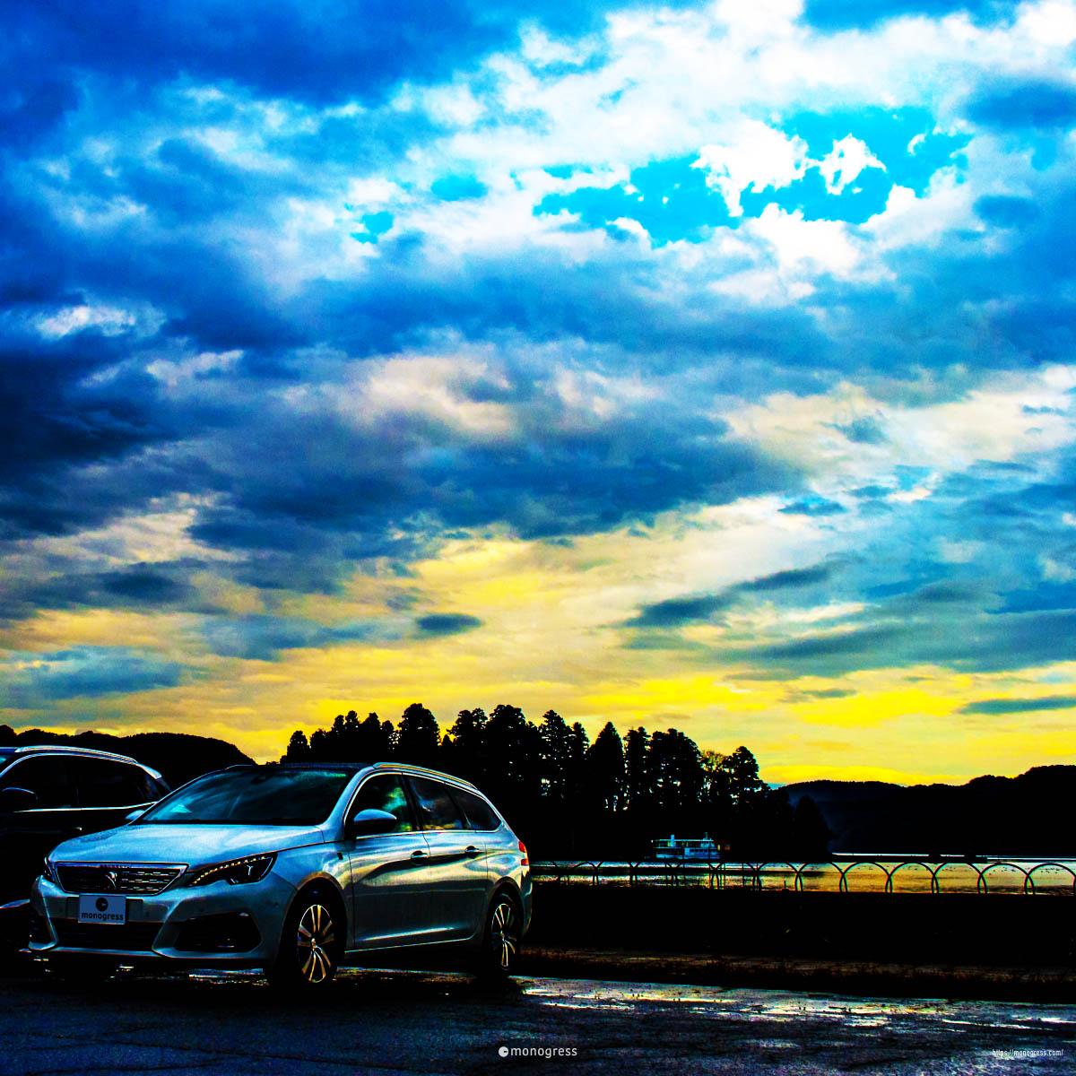 Peugeot 308SW と野尻湖