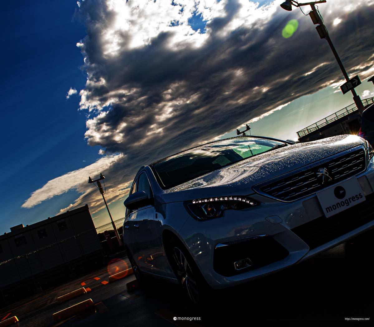 Peugeot 308SW 雨上がり