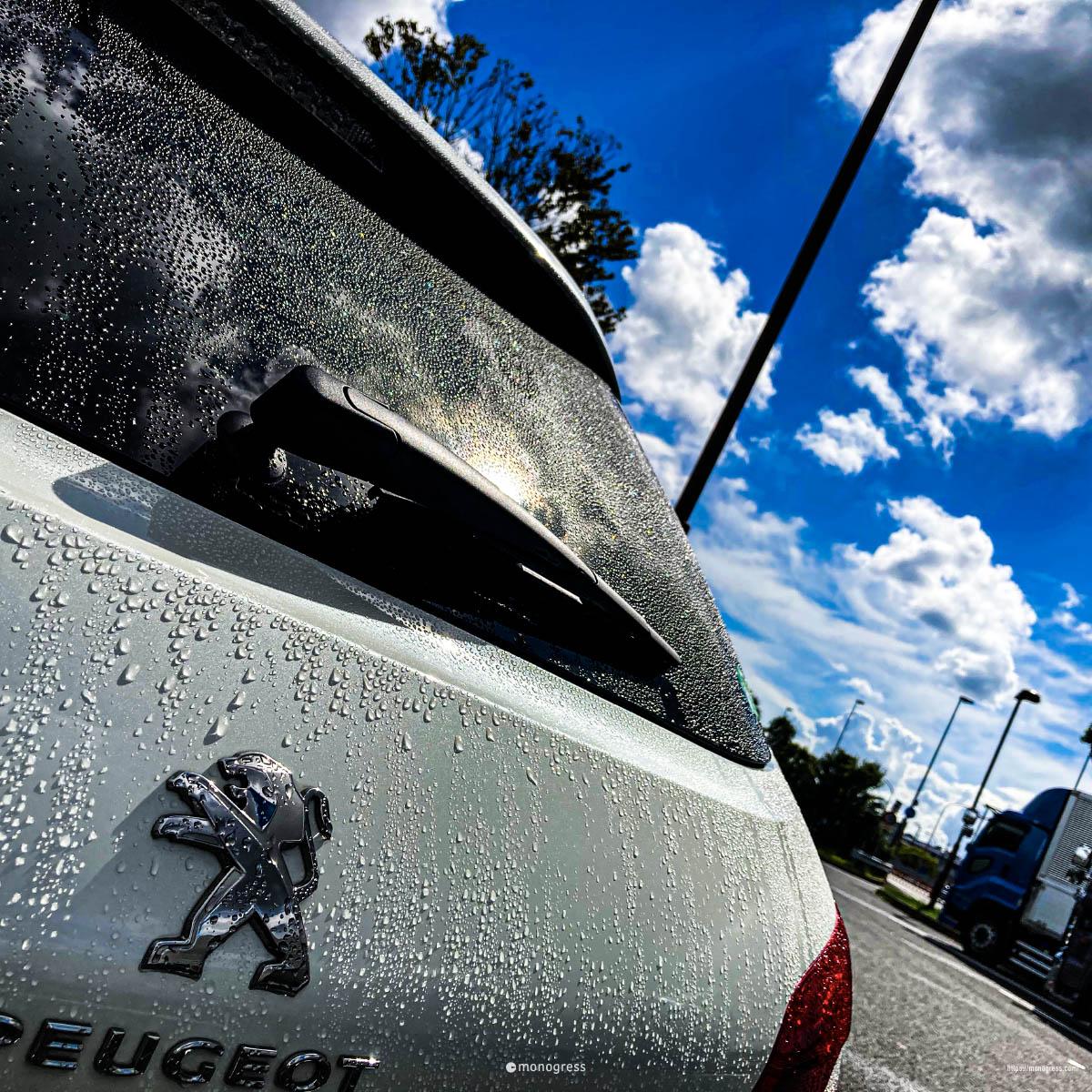 Peugeot 308SW 天気雨