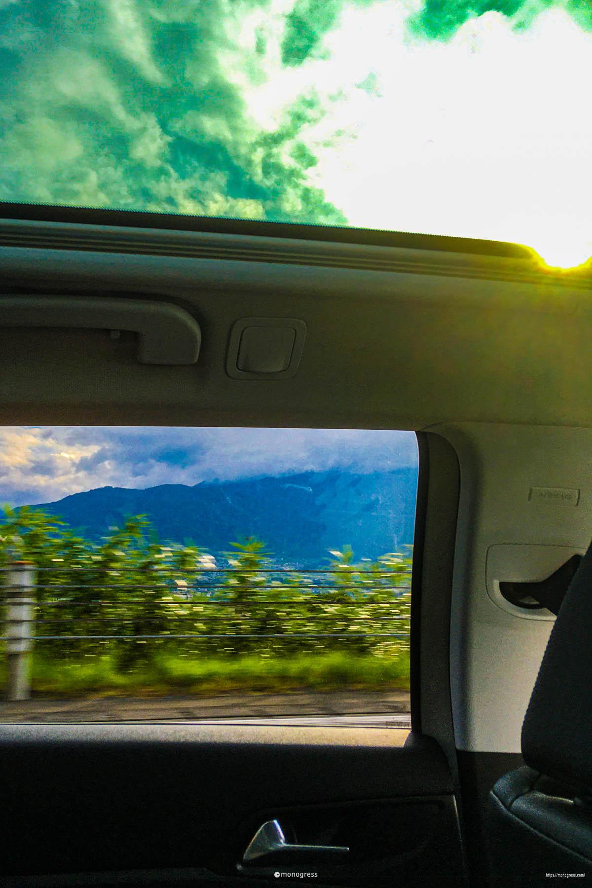 Peugeot 308SW リアの眺め