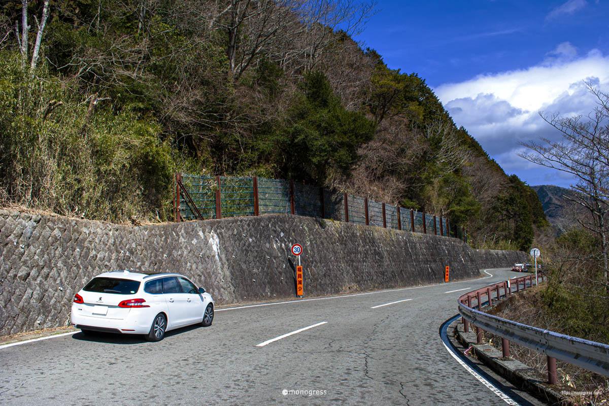 プジョー308SW と箱根長尾峠
