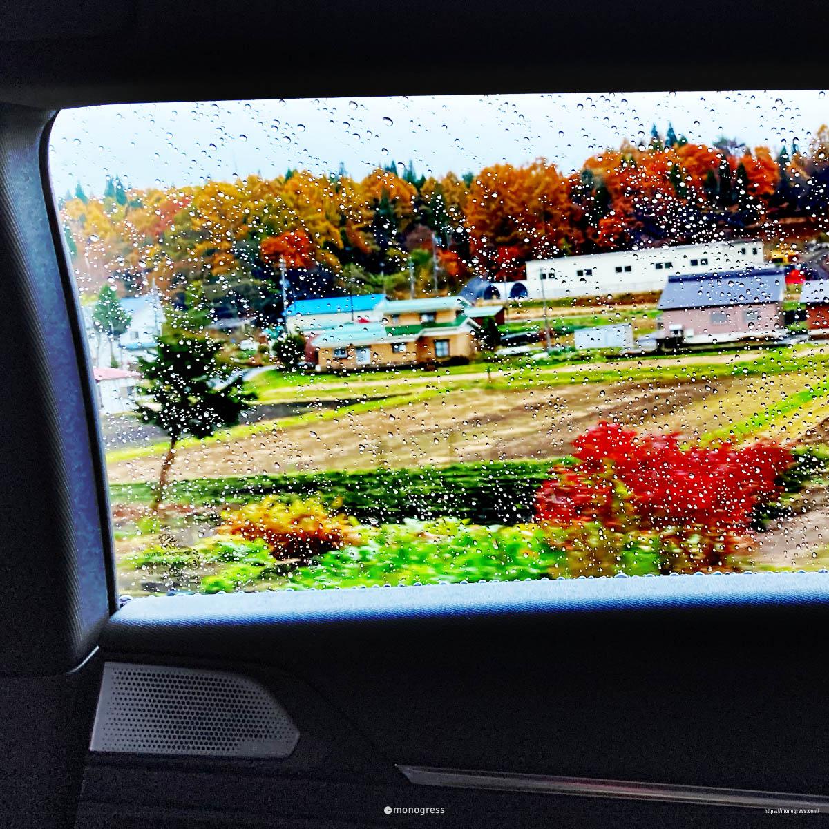 508の車窓 野尻湖