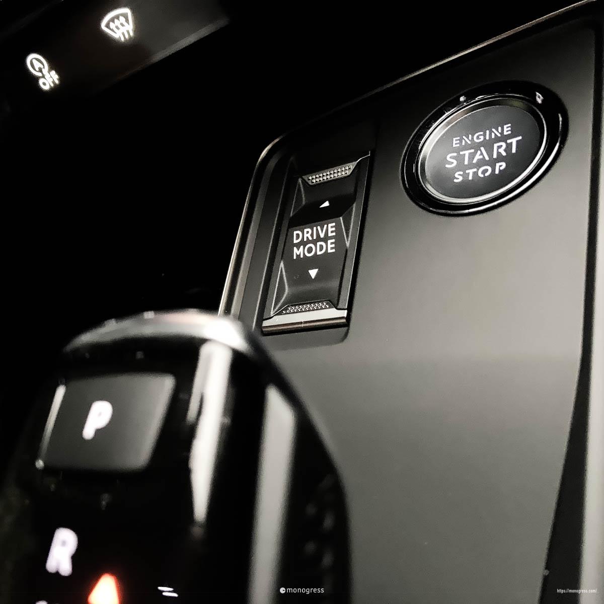 Peugeot 508 DriveModeSwitch