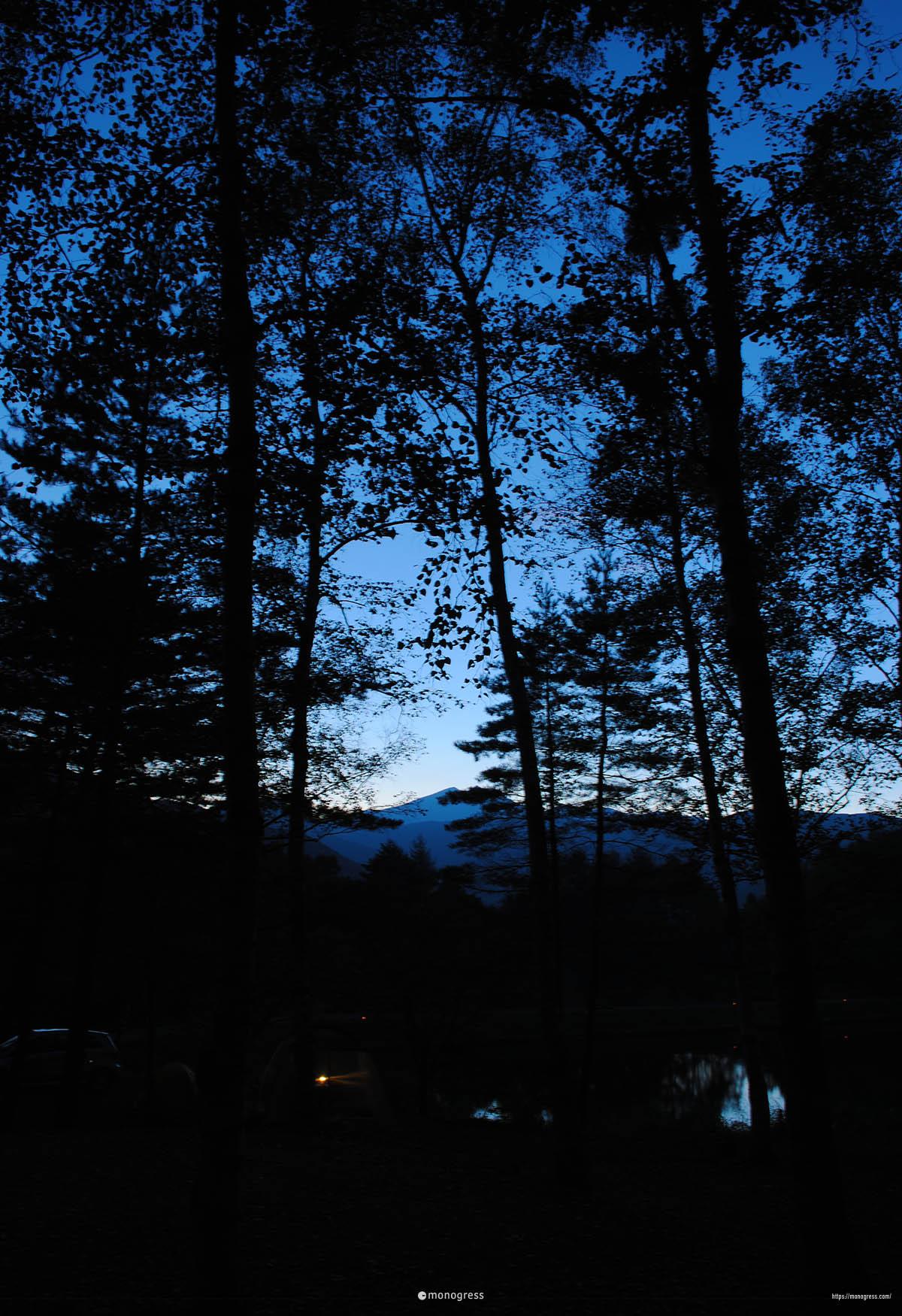 高ソメキャンプ場の夜