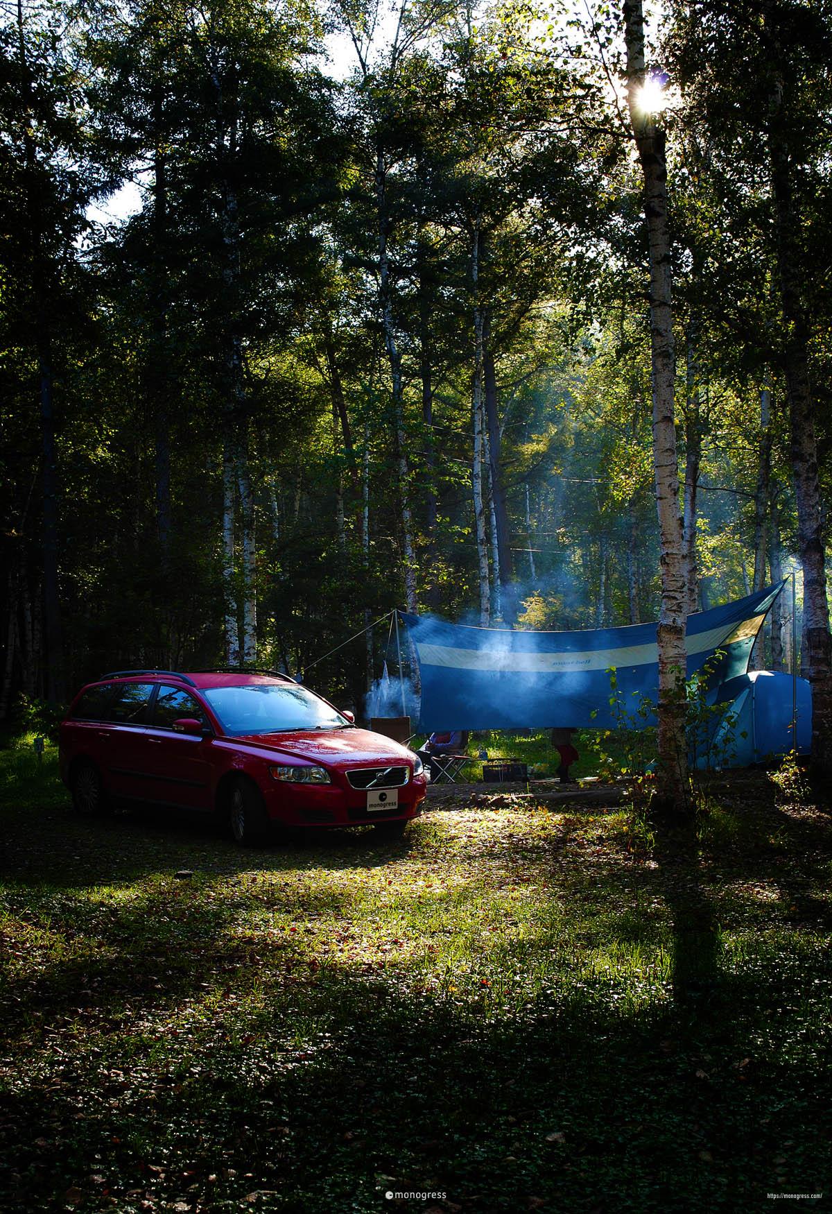 ボルボV50とキャンプ