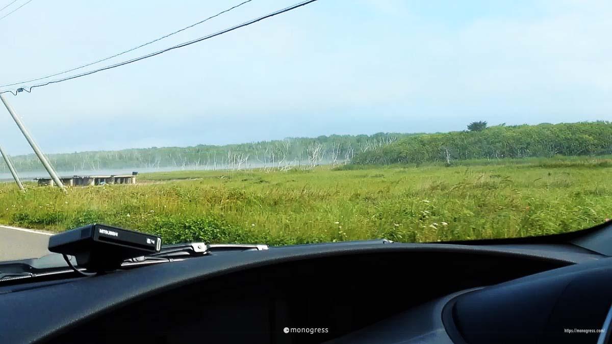 野付半島を走ると見えるナナワラ