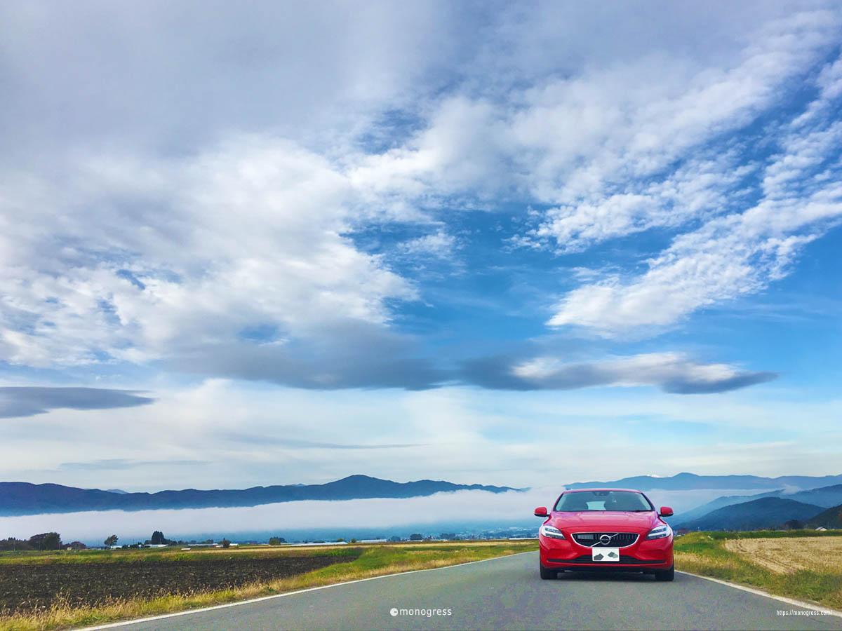 ボルボV40で紅葉ドライブ 原村は空が広い!