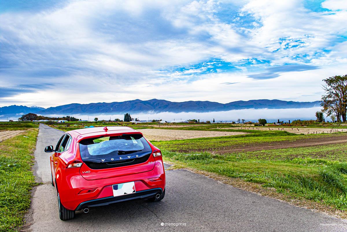 ボルボV40で紅葉ドライブ 原村から見る南アルプス