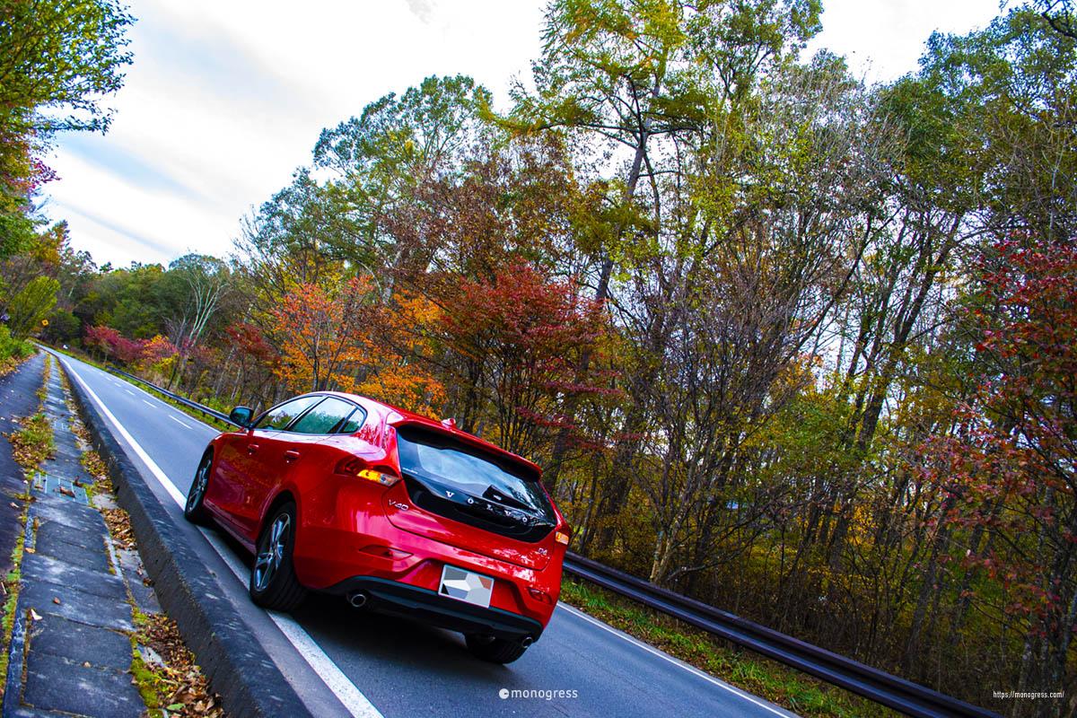 ボルボV40で紅葉ドライブ 原村は私の理想の土地である