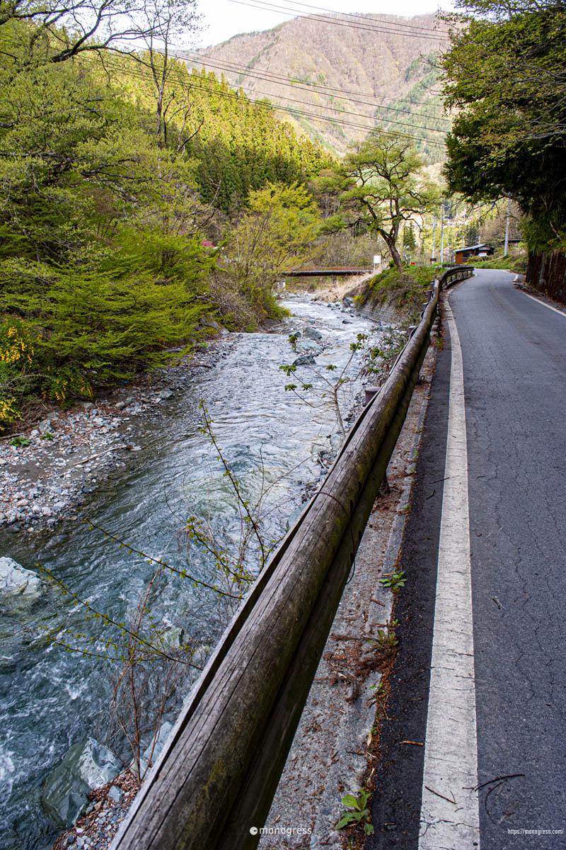 大鹿村の山道