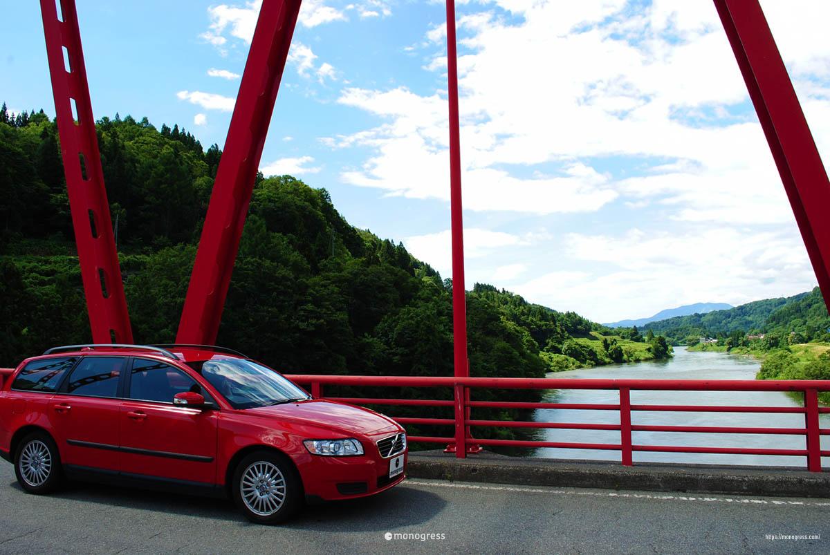 ボルボV50と飯山