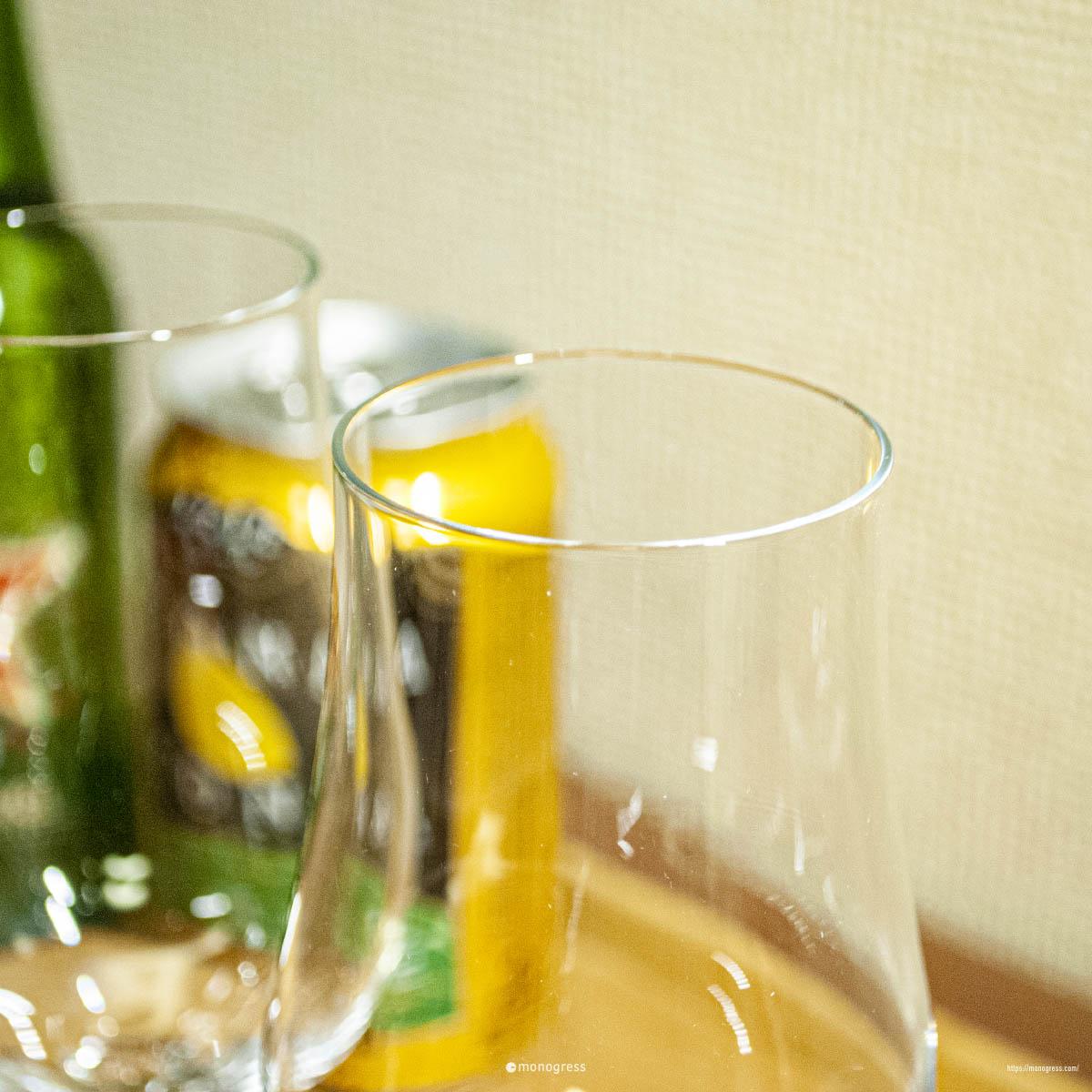 ツヴィーゼルのグラスはとても薄い